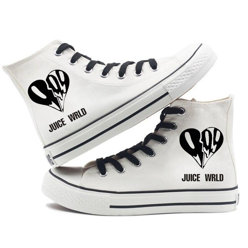 hip hop singer respect print sneakers canvas shoes men women 4257 - PewDiePie Merch