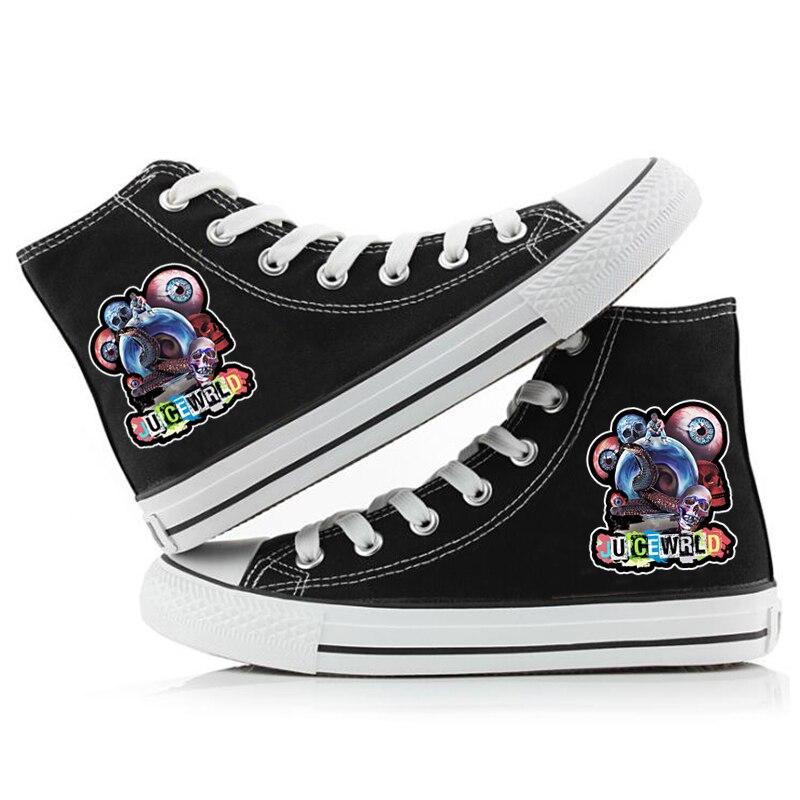 hip hop singer respect print sneakers canvas shoes men women 6740 - PewDiePie Merch