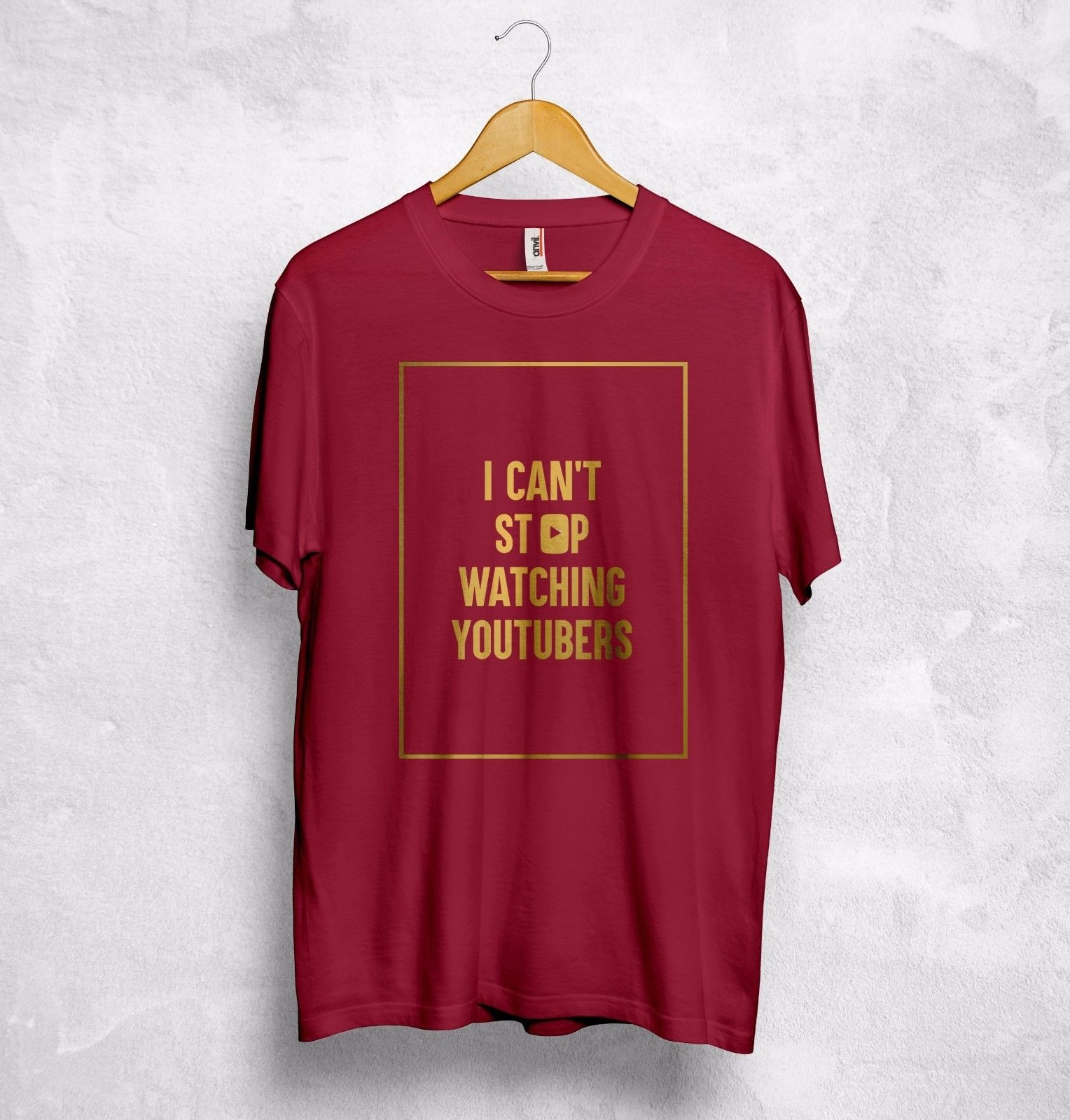 i cant stop watching youtubers t shirt top youtube casey neistat pewdiepie gift t shirt hipster cool o neck tops 1699 - PewDiePie Merch