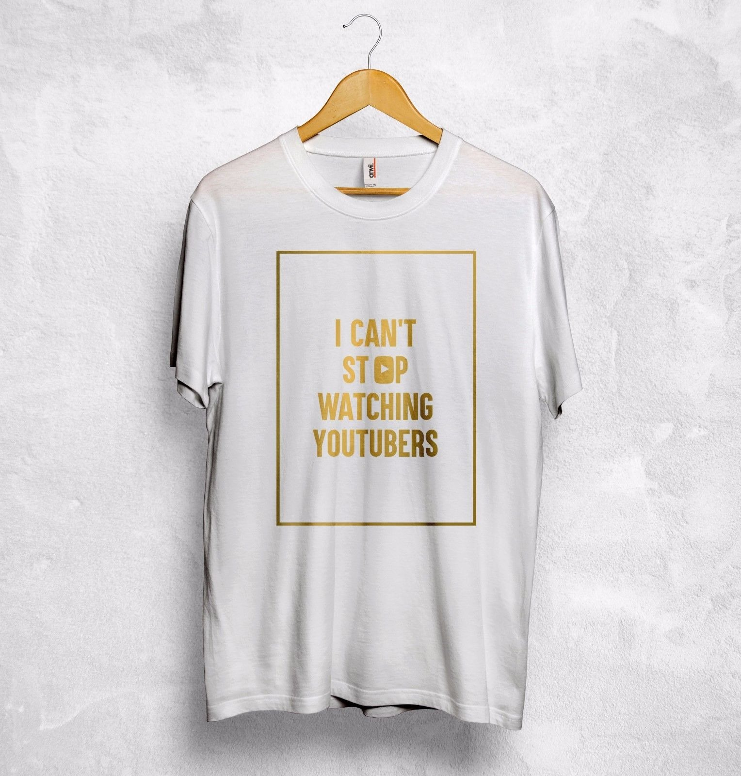 i cant stop watching youtubers t shirt top youtube casey neistat pewdiepie gift t shirt hipster cool o neck tops 8673 - PewDiePie Merch