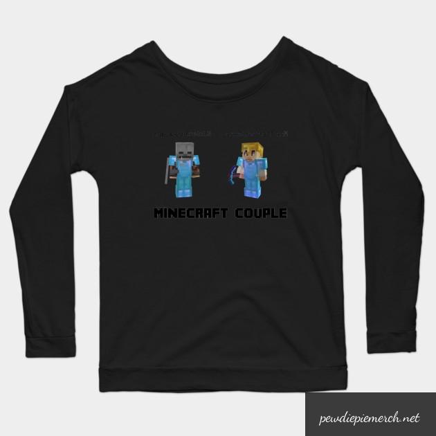 marzia minecraft couple pewdiepie long sleeve t shirt 1343 - PewDiePie Merch