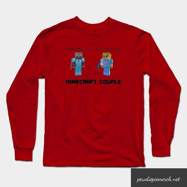 marzia minecraft couple pewdiepie long sleeve t shirt 1811 - PewDiePie Merch