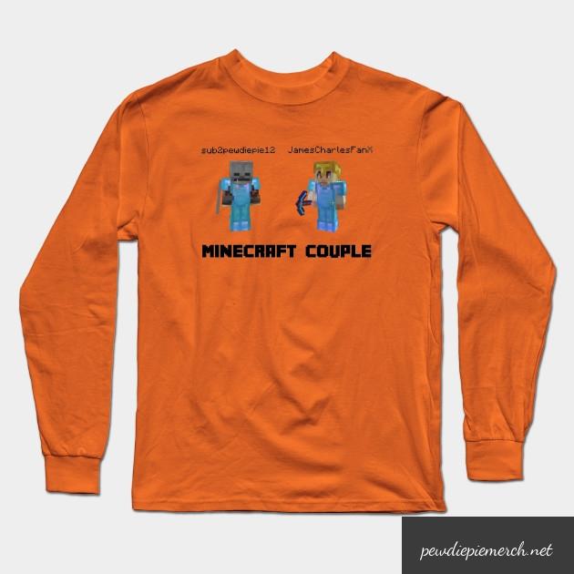 marzia minecraft couple pewdiepie long sleeve t shirt 3286 - PewDiePie Merch
