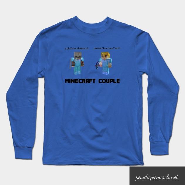 marzia minecraft couple pewdiepie long sleeve t shirt 6573 - PewDiePie Merch