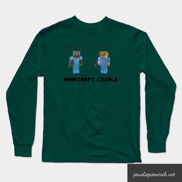 marzia minecraft couple pewdiepie long sleeve t shirt 7597 - PewDiePie Merch