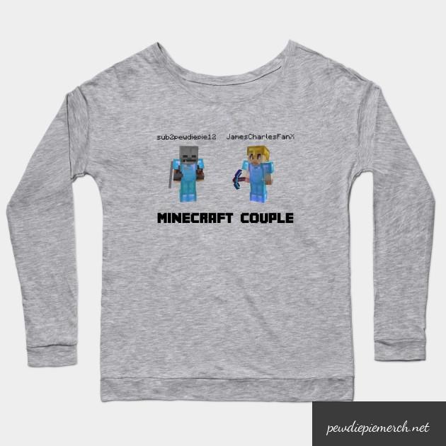marzia minecraft couple pewdiepie long sleeve t shirt 7710 - PewDiePie Merch