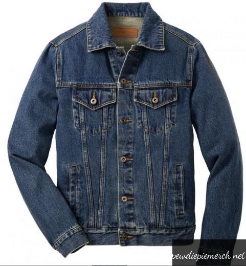men denim jacket pewdiepie 8388 - PewDiePie Merch