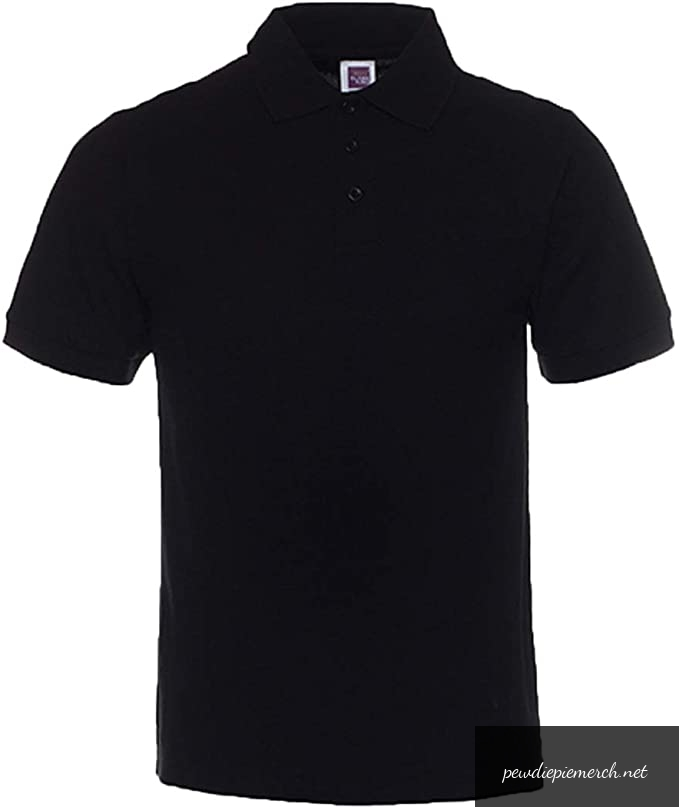 mens classic fit short sleeves polo shirt 8530 - PewDiePie Merch