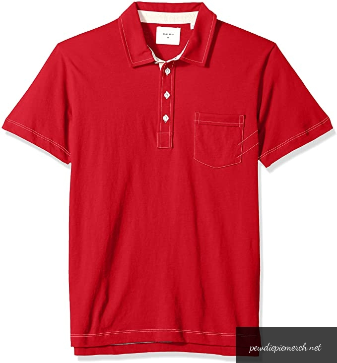 mens short sleeve pensacola polo shirt with pocket 8502 - PewDiePie Merch