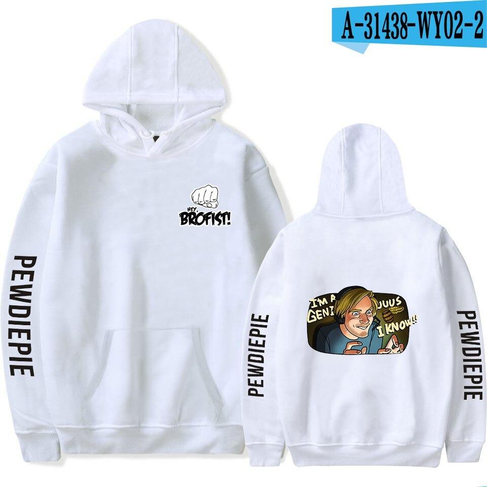 new pewdiepie symbol famous brofists vlogger tops mens black hoodie 3671 - PewDiePie Merch