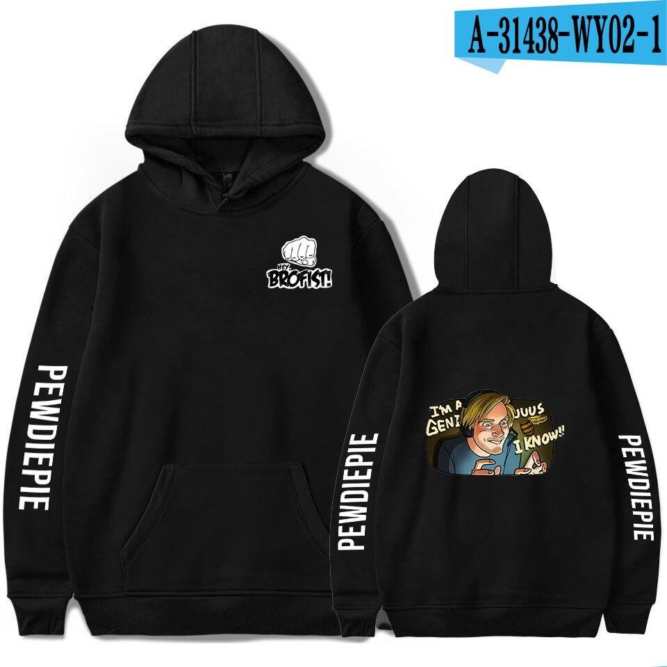 new pewdiepie symbol famous brofists vlogger tops mens black hoodie 6397 - PewDiePie Merch