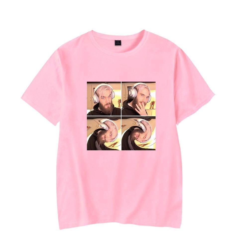 new pewdiepie t shirts men women fashion funny t shirts harajuku popular couples short sleeve t shirt tops  t shirt summer kids 8660 - PewDiePie Merch