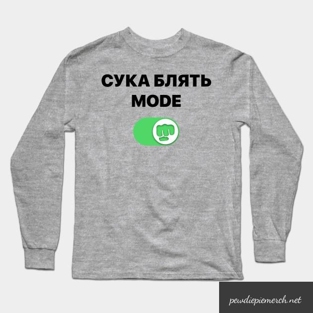 pewdiepie   cyka blyat mode brofist pewds long sleeve t shirt 4729 - PewDiePie Merch