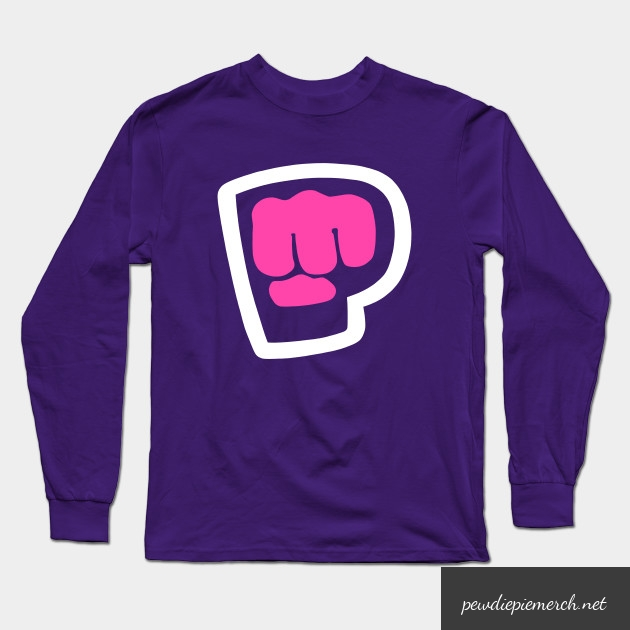 pewdiepie brofist pink long sleeve t shirt 7794 - PewDiePie Merch