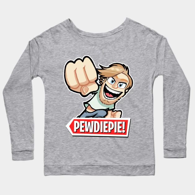 pewdiepie cartoon long sleeve t shirt 2451 - PewDiePie Merch