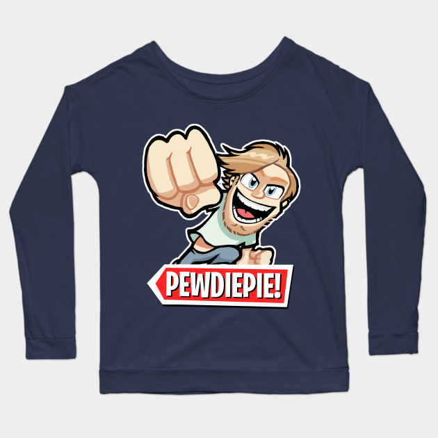 pewdiepie cartoon long sleeve t shirt 5060 - PewDiePie Merch