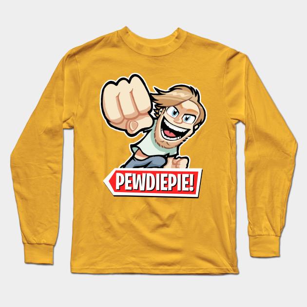pewdiepie cartoon long sleeve t shirt 8376 - PewDiePie Merch