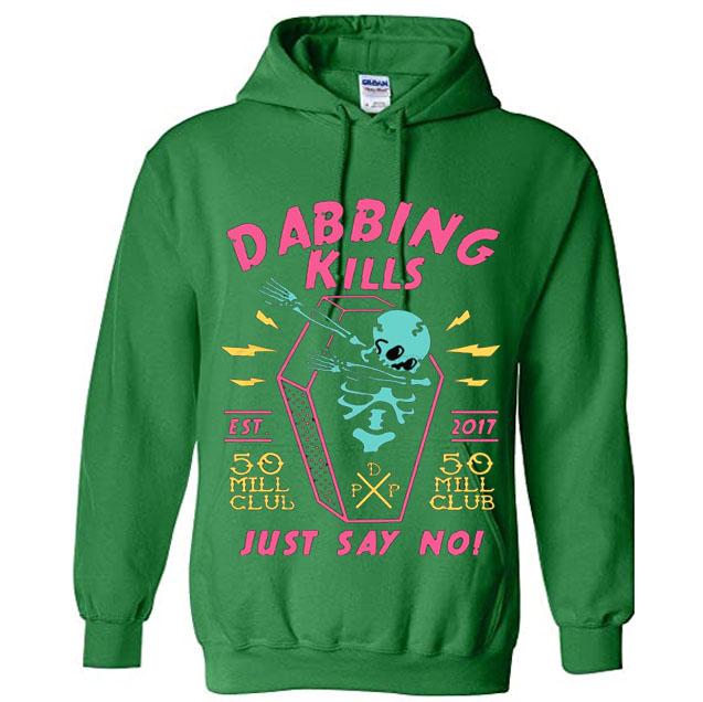 pewdiepie dabbing kill mens hoodies 7100 - PewDiePie Merch