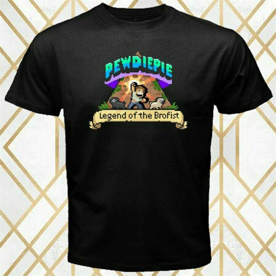 pewdiepie legend of the brofist game logo men black t shirt 5401 - PewDiePie Merch