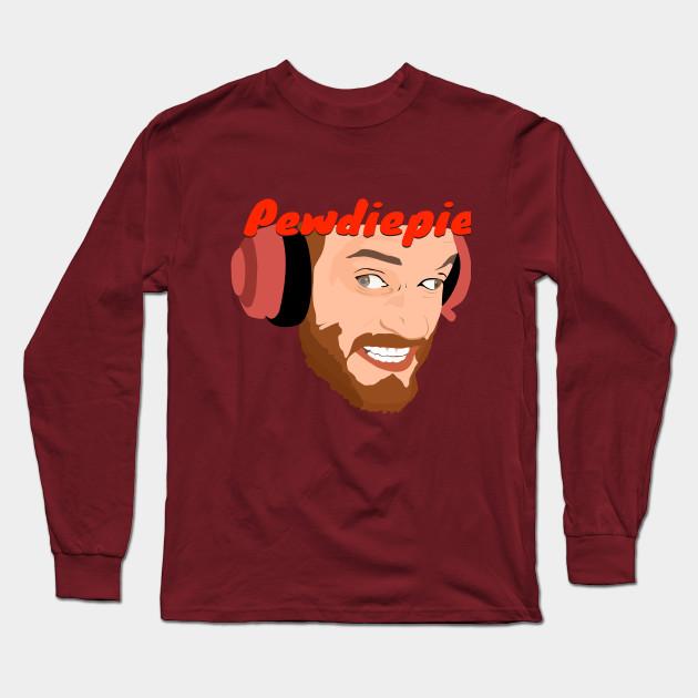 pewdiepie long sleeve t shirt black 8342 - PewDiePie Merch