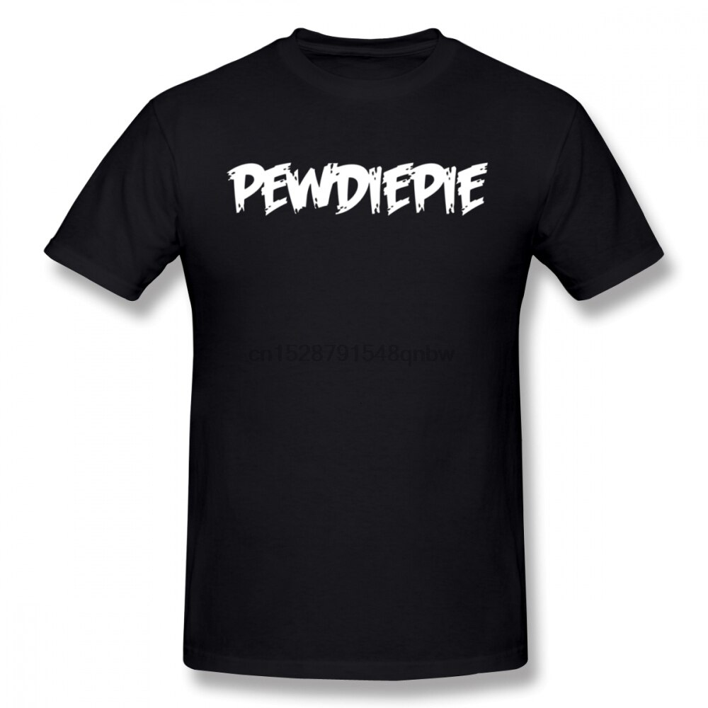 pewdiepie name printed black t shirt 4447 - PewDiePie Merch