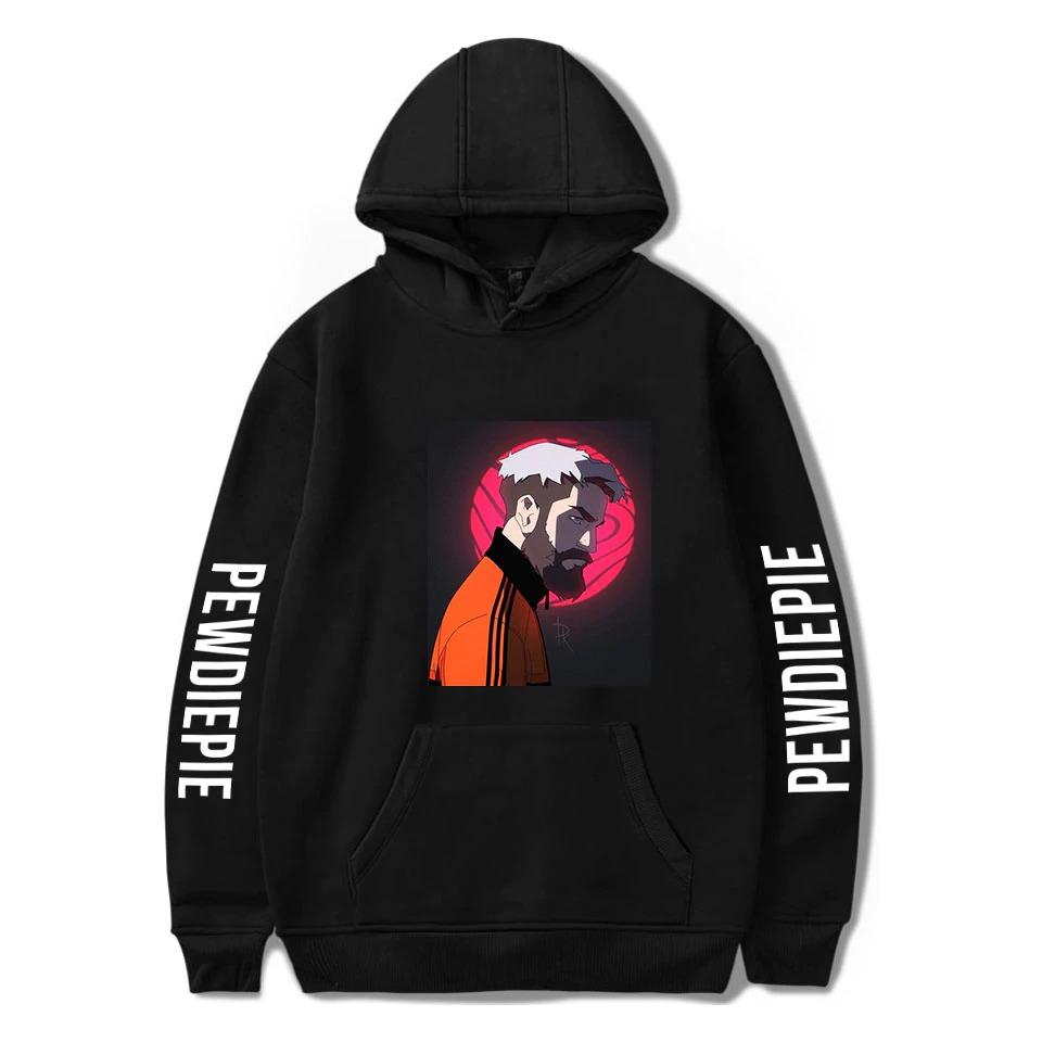 pewdiepie sweatshirts loose young casual adult letter mens hoodies 8674 - PewDiePie Merch