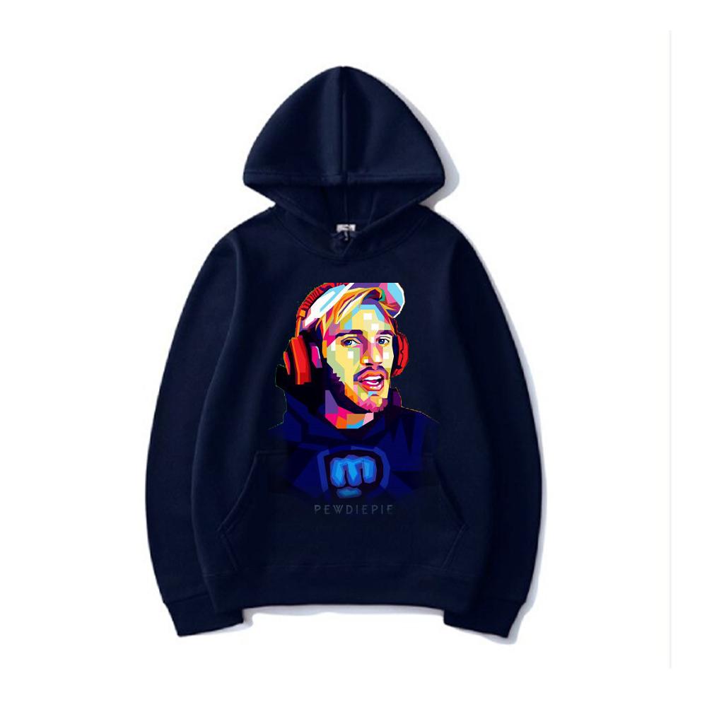 pewdiepie women and men top  brand black hoodies 1486 - PewDiePie Merch