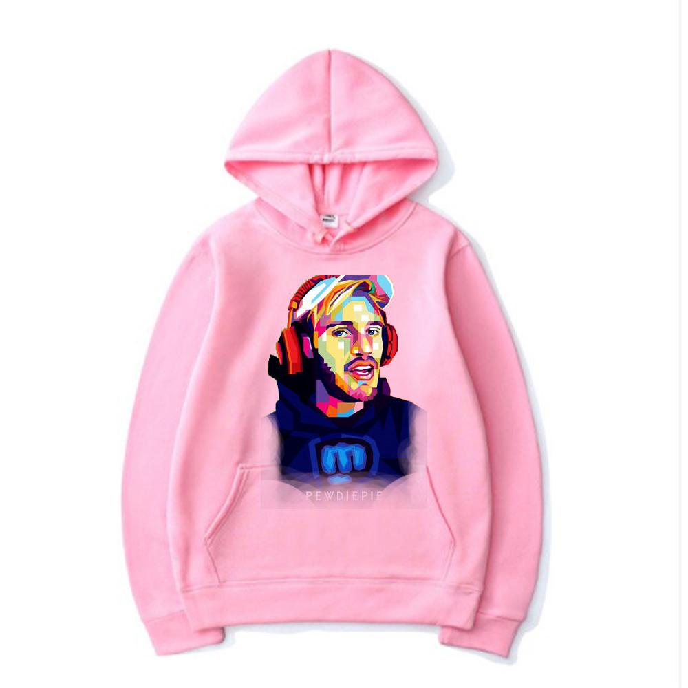 pewdiepie women and men top  brand black hoodies 2425 - PewDiePie Merch