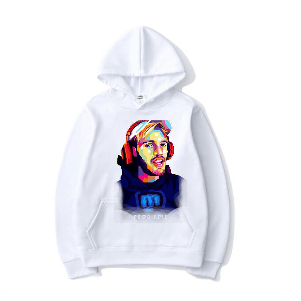 pewdiepie women and men top  brand black hoodies 3628 - PewDiePie Merch