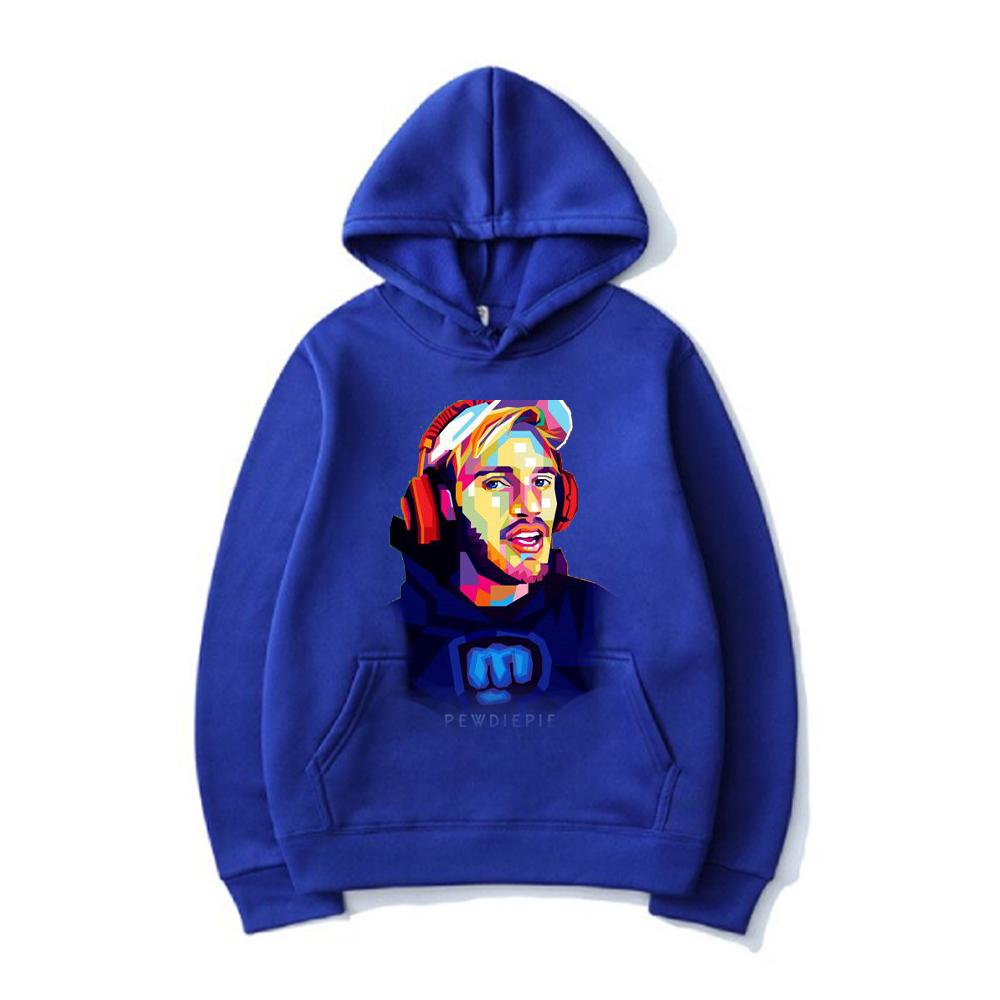 pewdiepie women and men top  brand black hoodies 6580 - PewDiePie Merch