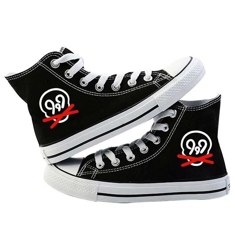 rapper women men canvas shoes sneakers hip hop 5094 - PewDiePie Merch