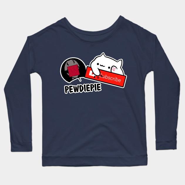 smash subscribe long sleeve shirt 2604 - PewDiePie Merch