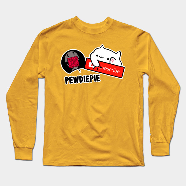 smash subscribe long sleeve shirt 4233 - PewDiePie Merch