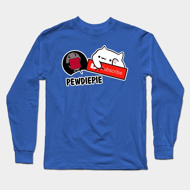 smash subscribe long sleeve shirt 4491 - PewDiePie Merch