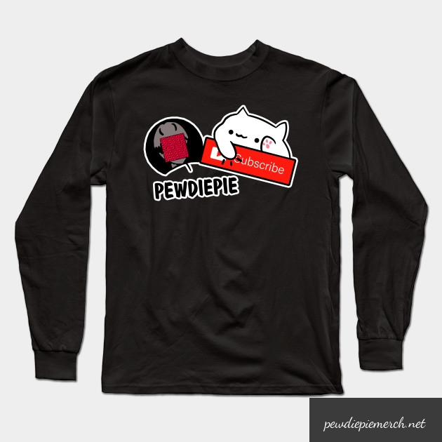 smash subscribe long sleeve shirt 5730 - PewDiePie Merch