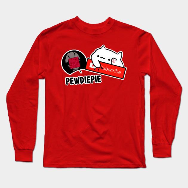 smash subscribe long sleeve shirt 6382 - PewDiePie Merch