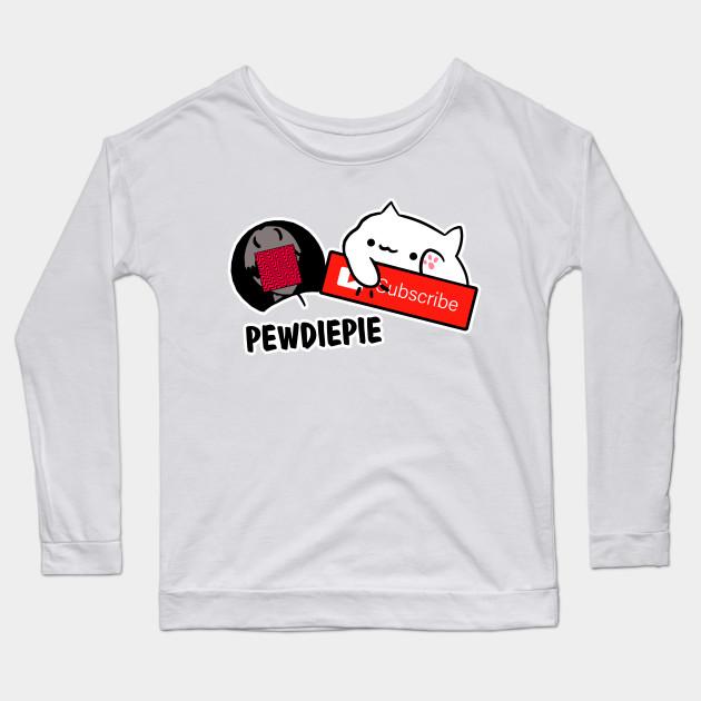smash subscribe long sleeve shirt 7199 - PewDiePie Merch