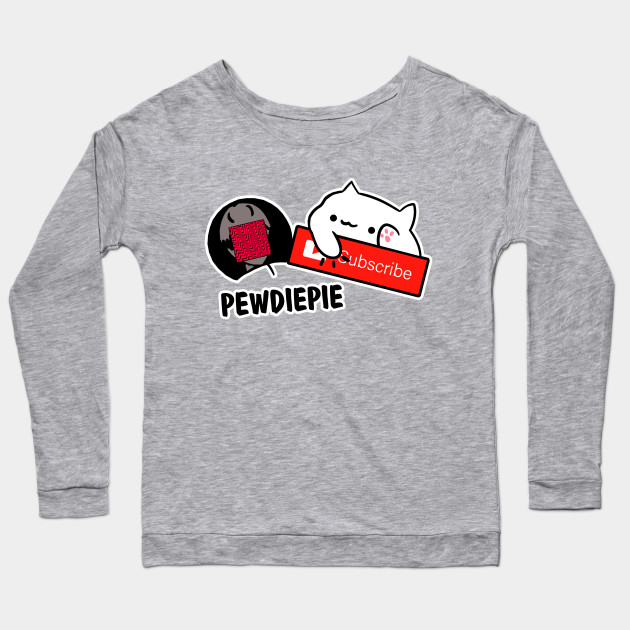 smash subscribe long sleeve shirt 7842 - PewDiePie Merch
