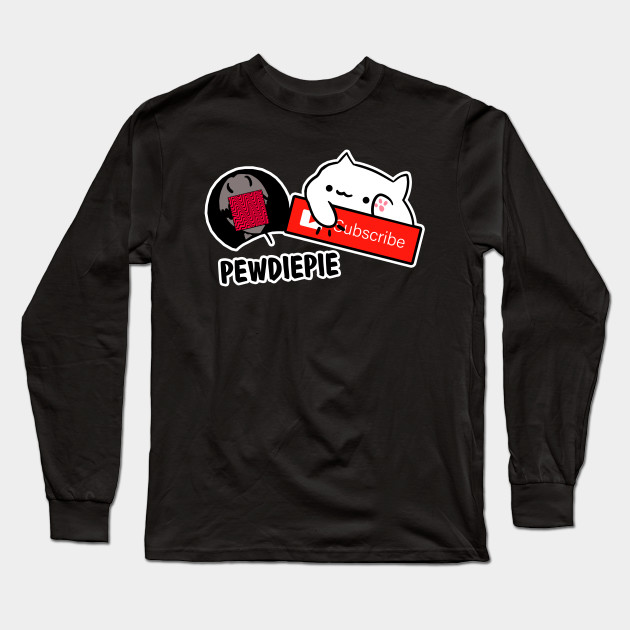 smash subscribe long sleeve shirt 8177 - PewDiePie Merch