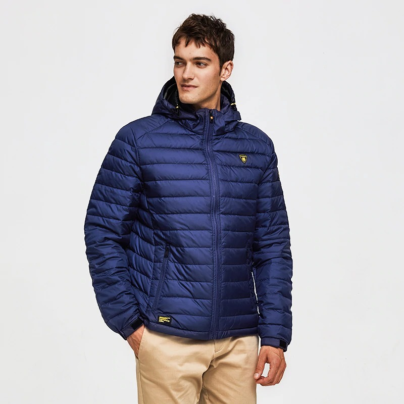 tiger force men spring jacket fashion cotton padded jackets casual coat detachable hood parka 1822 - PewDiePie Merch