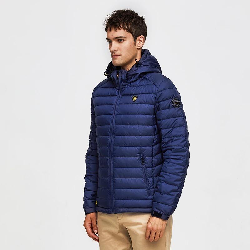 tiger force men spring jacket fashion cotton padded jackets casual coat detachable hood parka 6795 - PewDiePie Merch