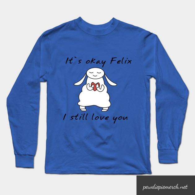 water sheep pewdiepie jeb felix long sleeve t shirt 3922 - PewDiePie Merch