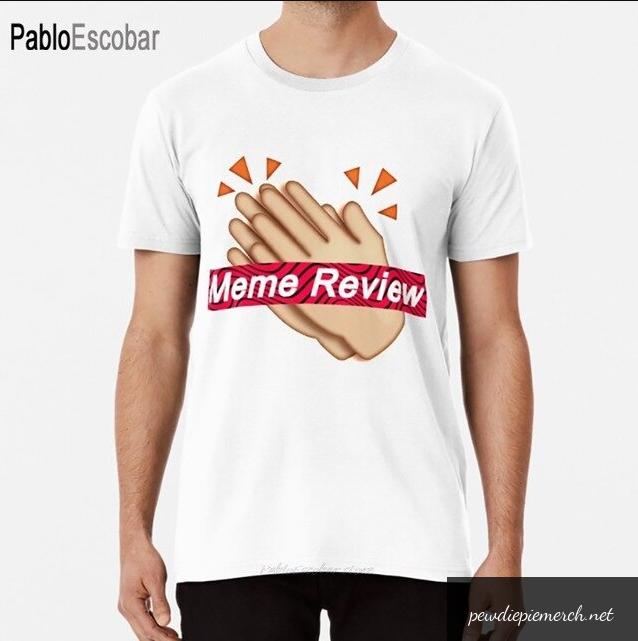white black color with pewdiepie meme review t shirt 4592 - PewDiePie Merch