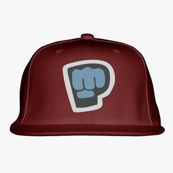 white maroon amp purple color pewdiepie smash logo snapback hat 5777 - PewDiePie Merch