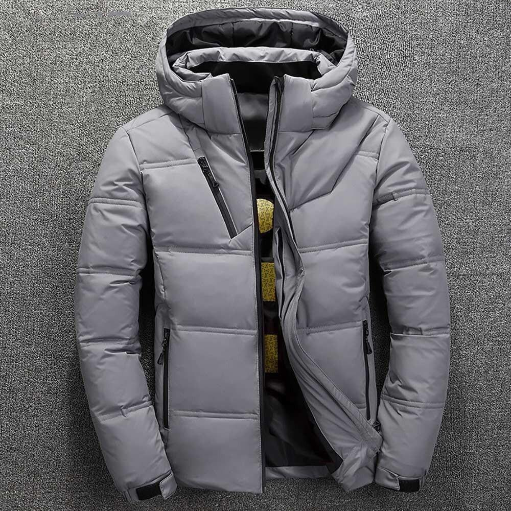 winter brand jacket men parka cotton padded casual streetwear coats male warm jackets solid color zipper 3675 - PewDiePie Merch