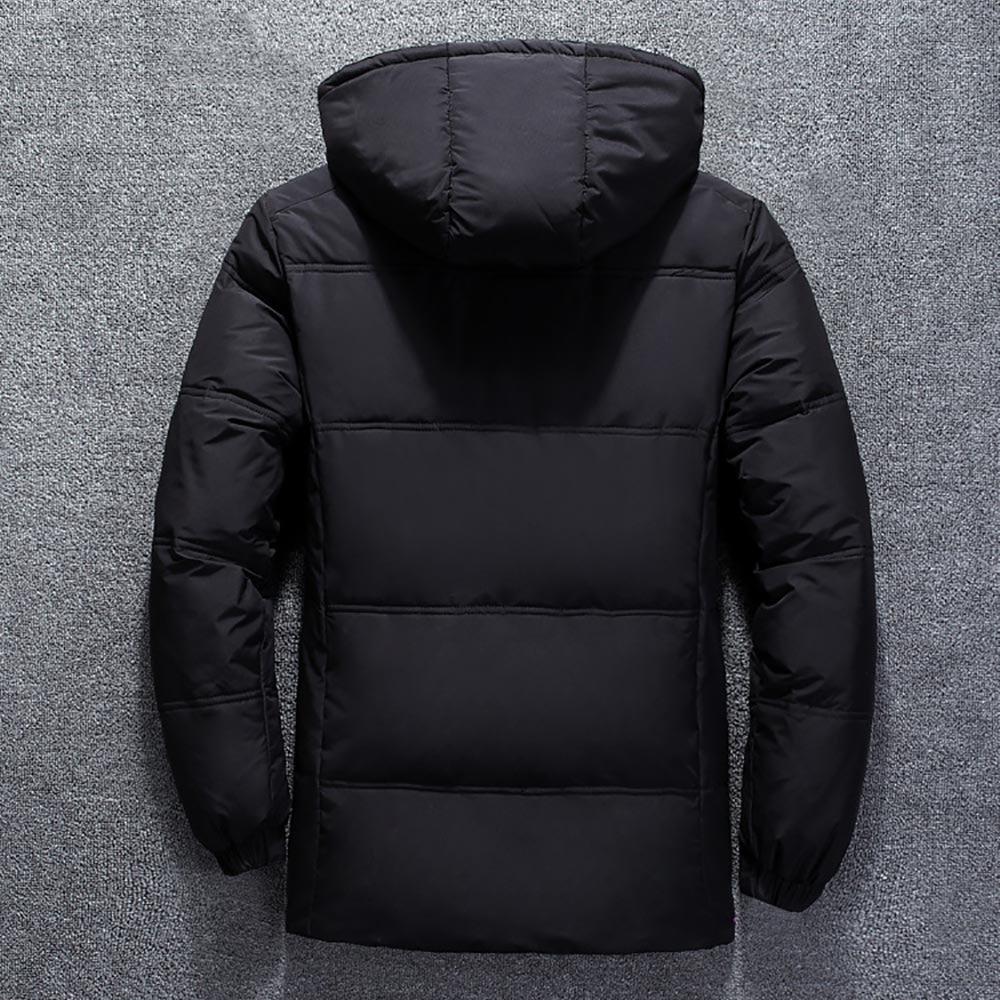 winter brand jacket men parka cotton padded casual streetwear coats male warm jackets solid color zipper 5204 - PewDiePie Merch