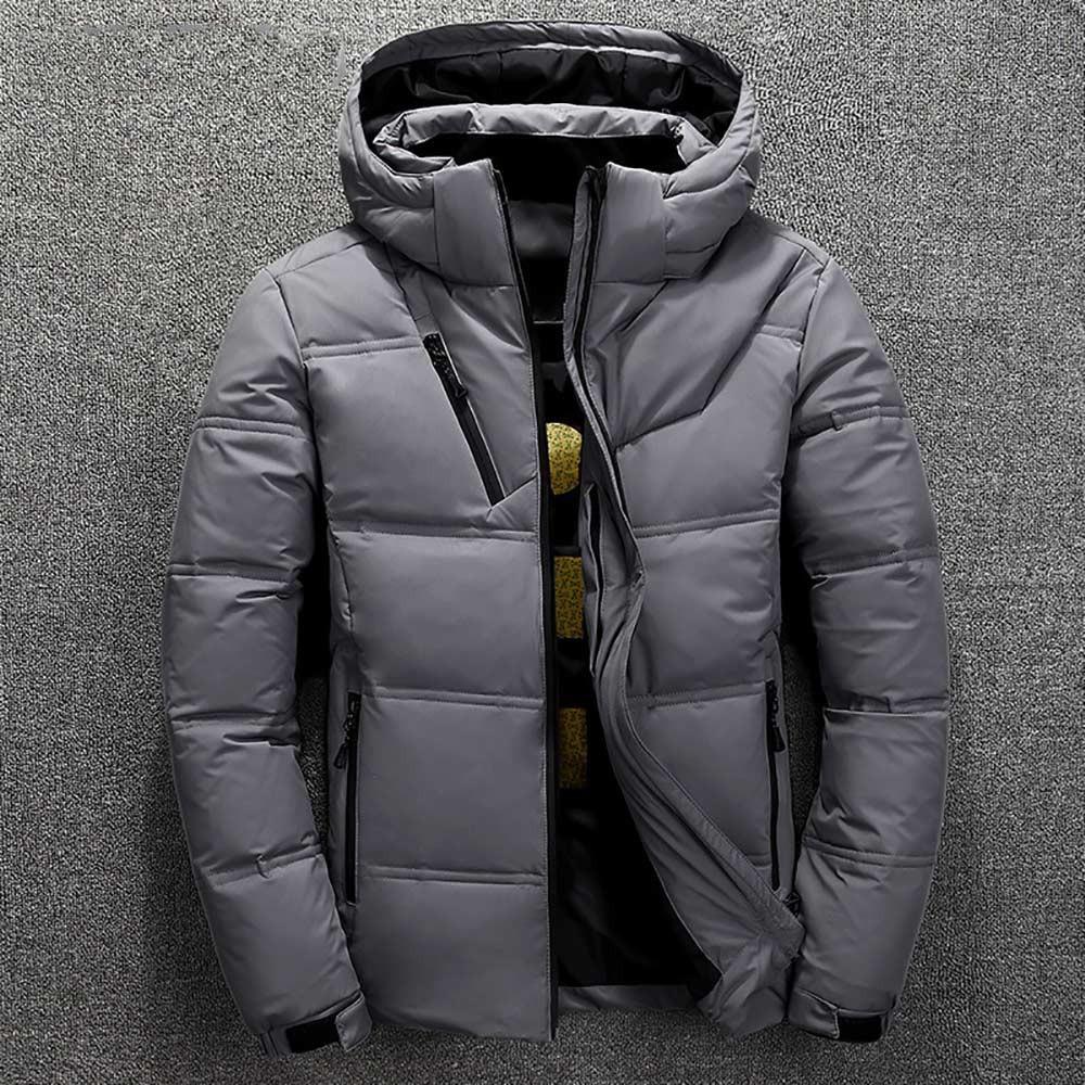 winter brand jacket men parka cotton padded casual streetwear coats male warm jackets solid color zipper 5986 - PewDiePie Merch